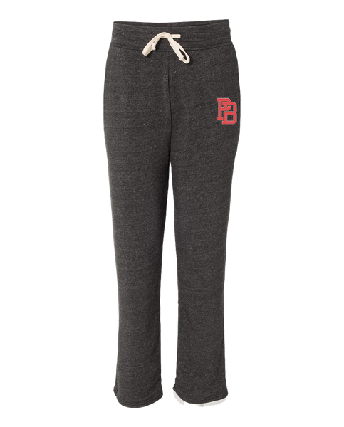 "OHEARN ""PB MONOGRAM"" Open Bottom Sweatpants"