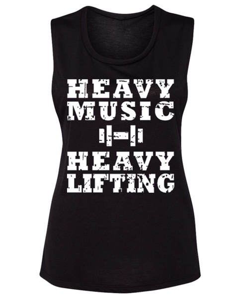"RAF ""HEAVY MUSIC HEAVY LIFTING"" Muscle Tee"