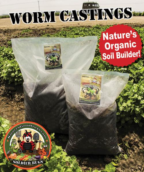 Earthworm Castings - Natural Soil Amendment