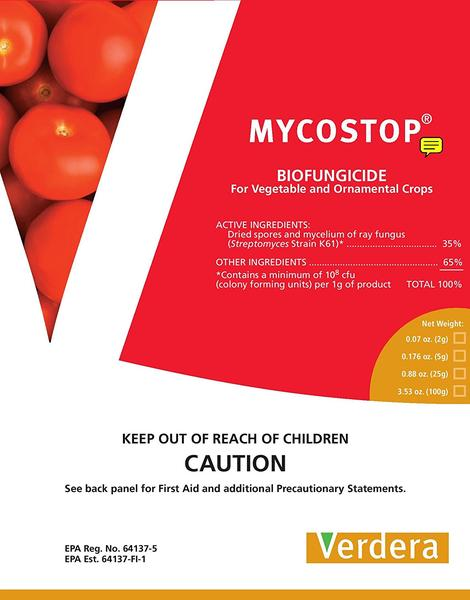 MYCOSTOP is a OMRI listed bio-fungicide
