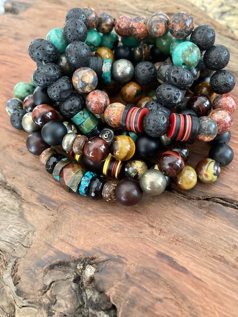 Men's Gemstone Stacking Bracelets