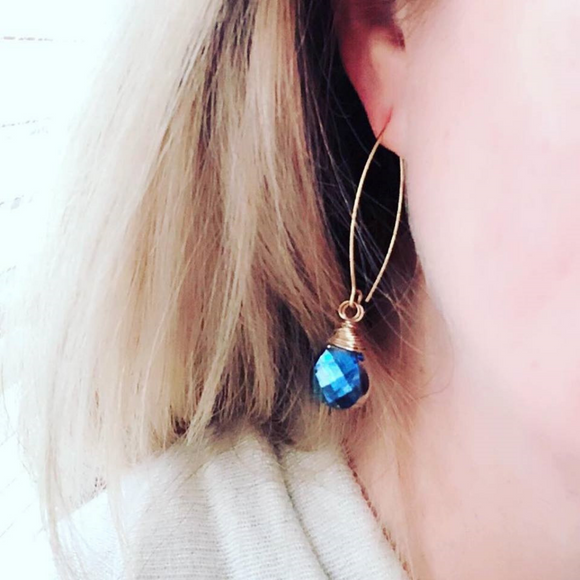 Limited Edition: Mali Blue Earrings