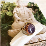 Amethyst Goddess Ring- One of a Kind