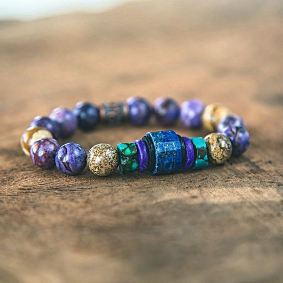 Harmony Bracelet: Lapis, Agate, Jasper, Turquoise and Copper Stacking Bracelet