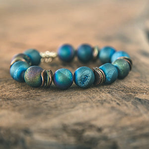 Touch of Elegance: Druzy Stacking Bracelet