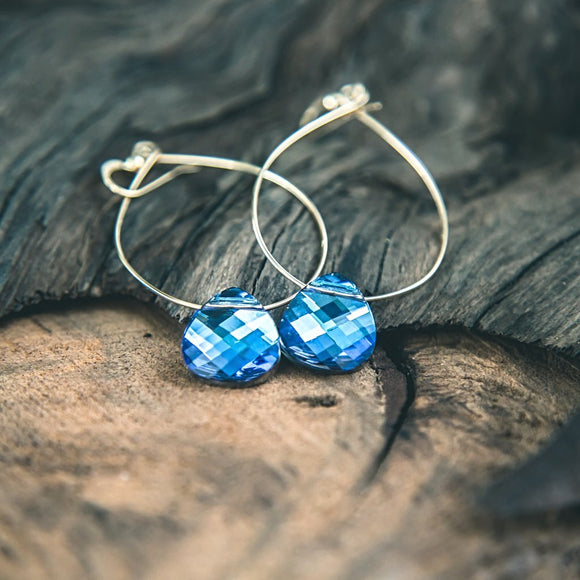 Crystal Magic: Swarovski Majestic Blue Crystal Earrings