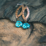 Earth Magic: Copper Turquoise Teardrop Earrings