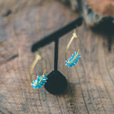 Jewel of Love and Loyalty : Blue Topaz Gemstone Pear Shaped Gold Marquise Earrings
