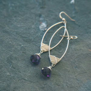 Trust Yourself: Amethyst Spiritual Earrings - Rei of Light Jewelry Designs