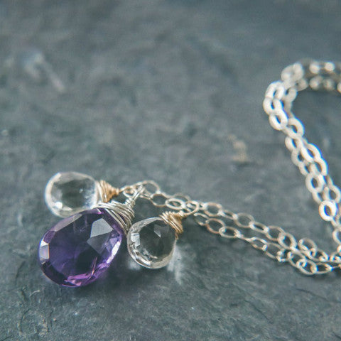 New Beginnings - Amethyst Goddess Necklace - Rei of Light Jewelry Designs
