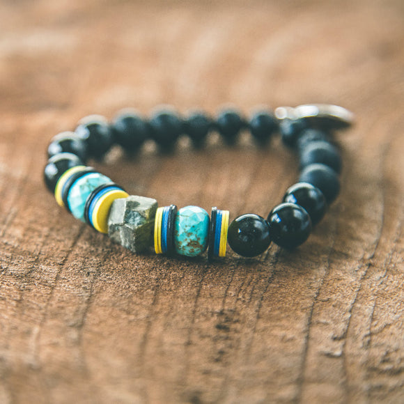 Stay Grounded: Boho Unisex Stacking Bracelet