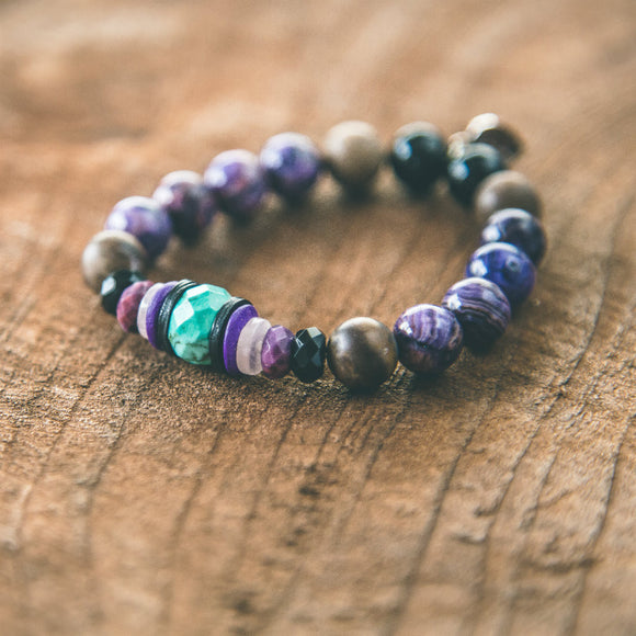 Never Give Up Boho Stacking Bracelet