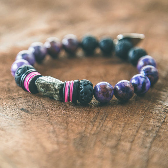Hanalei: Colorful Stone Stacking Bracelet