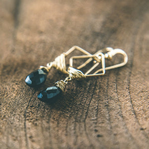Feeding The Soul: Black Onyx Geometric Earrings