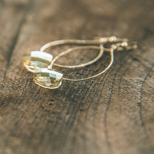 Golden Goddess: Swarowski Crystal Circular Earrings