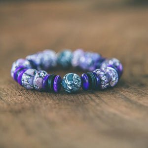 Purple Haze Magnesite Zen Bracelet - Rei of Light Jewelry Designs - 1