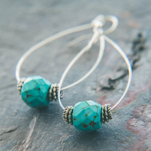Tears of Joy: Turquoise Teardrop Earrings