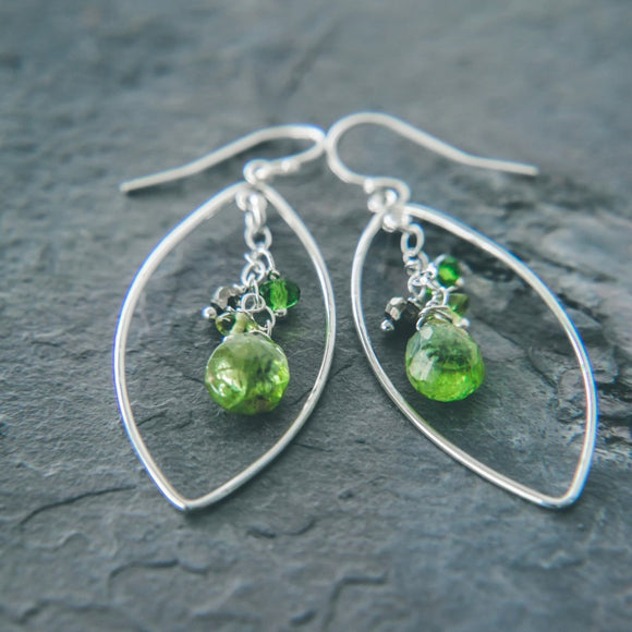 Peridot Well-Being Swarowski Crystal Chandelier Earrings - Rei of Light Jewelry Designs