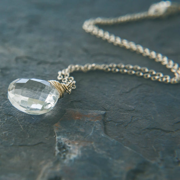 Life Force - Rei of Light Signature Quartz Crystal Pendant Necklace - Rei of Light Jewelry Designs