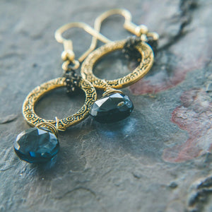 Moonlight Quartz Crystal Earrings - Rei of Light Jewelry Designs