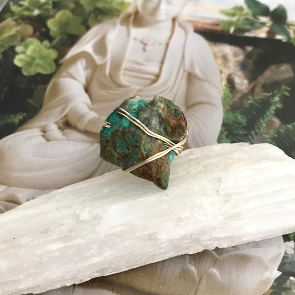 Chrysocolla Ring : One of a Kind