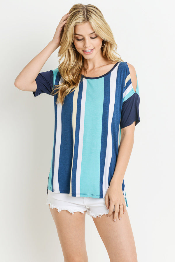 Emi's Stripe Cold-Shoulder