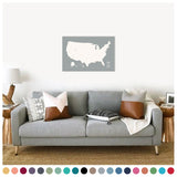 Push Pin Map of the USA in Original Design at 20x30'' (more colors)