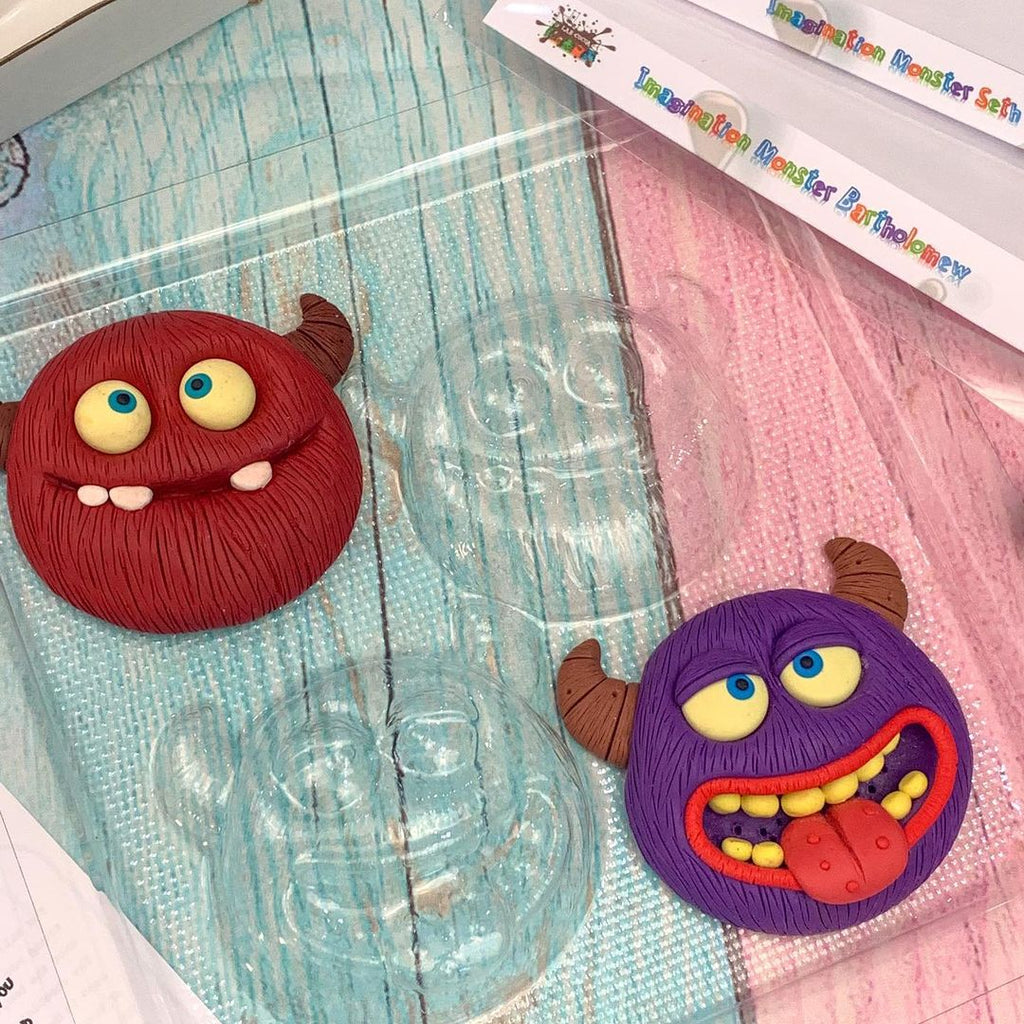Custom monster paint your own chocolate kits with custom molds made with thermoforming
