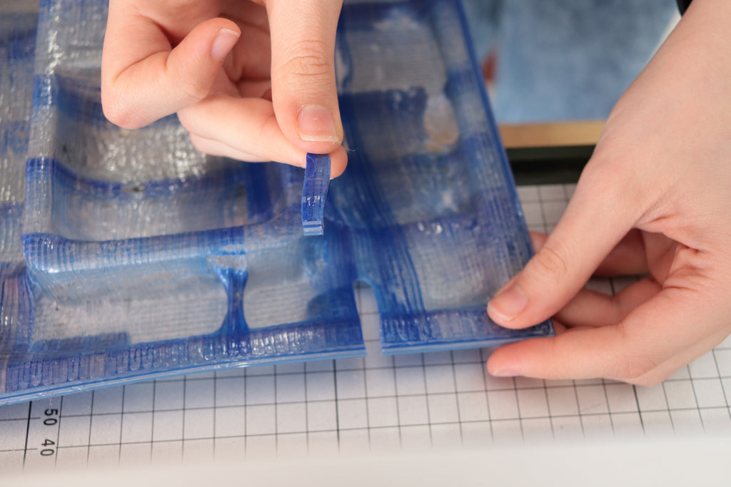 A Close up of a Plastic Smoothie 3D printed vacuum forming sheet