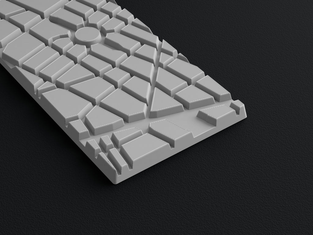 3D printed city chocolate bar template to make a vacuum formed mold