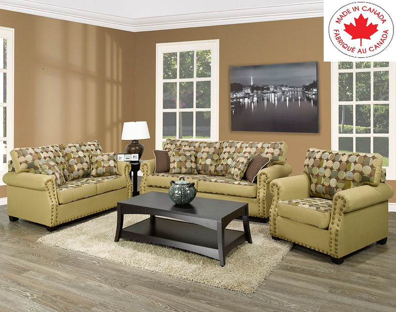 1200 3pc Canadian Sofa set - The Fine Furniture