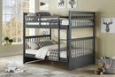 Seamus Bunk Bed - Full/Full - Grey - The Fine Furniture