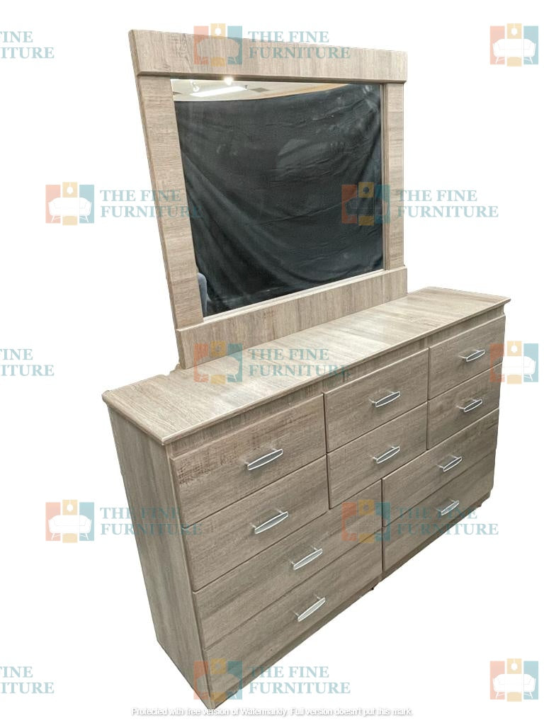 Memphis 7pc Bedroom Set - Single/Double/Queen/King - The Fine Furniture