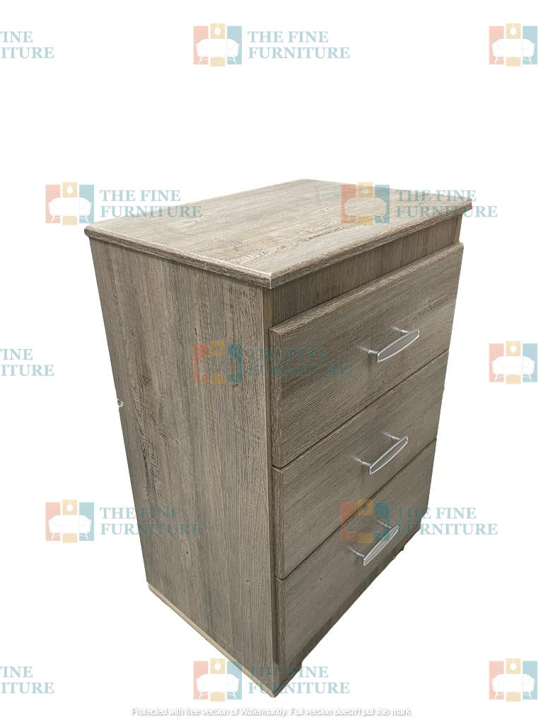 Memphis 3 Drawer Night Stand - The Fine Furniture