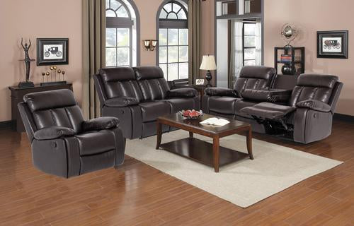 Sia 3pc Recliner Set - Brown - The Fine Furniture
