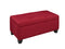 Lola Storage Ottoman - Red
