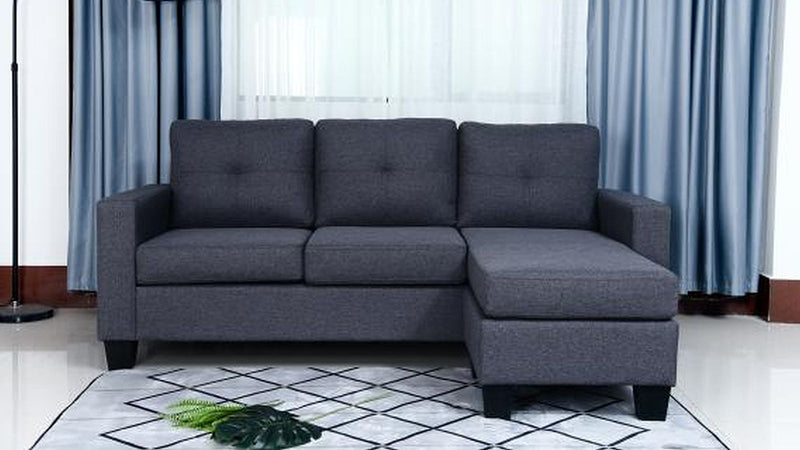 Ezra Sectional - Grey - The Fine Furniture