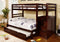 Jad Bunk Bed - Twin/Double - Espresso - The Fine Furniture