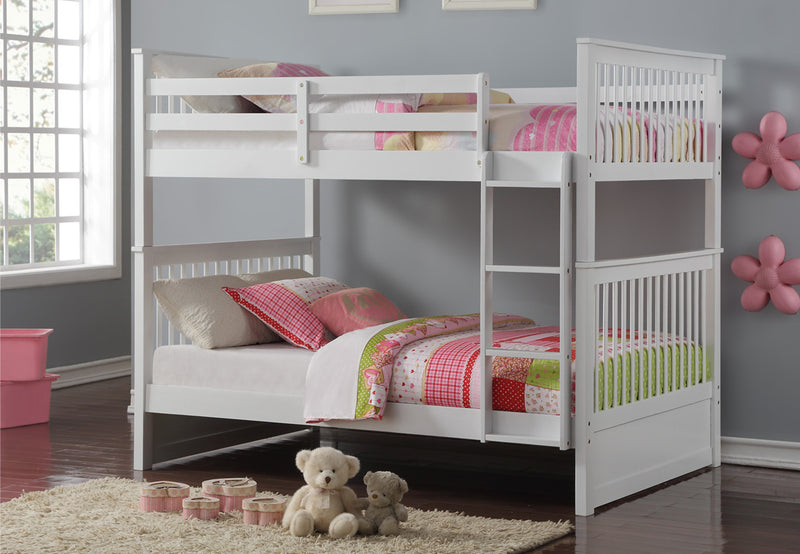 Seamus Bunk Bed - Full/Full - White - The Fine Furniture