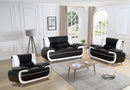 Empire Sofa Set - Black/White - The Fine Furniture