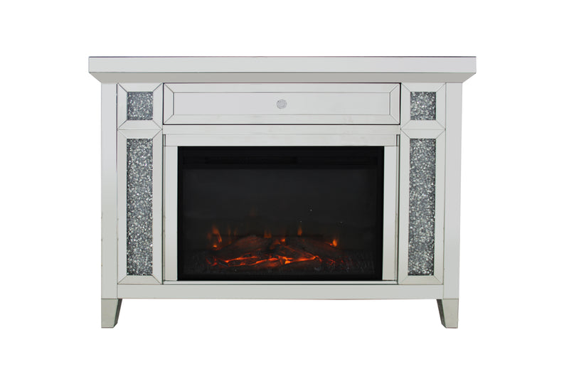 Karson Mirrored Fireplace - The Fine Furniture