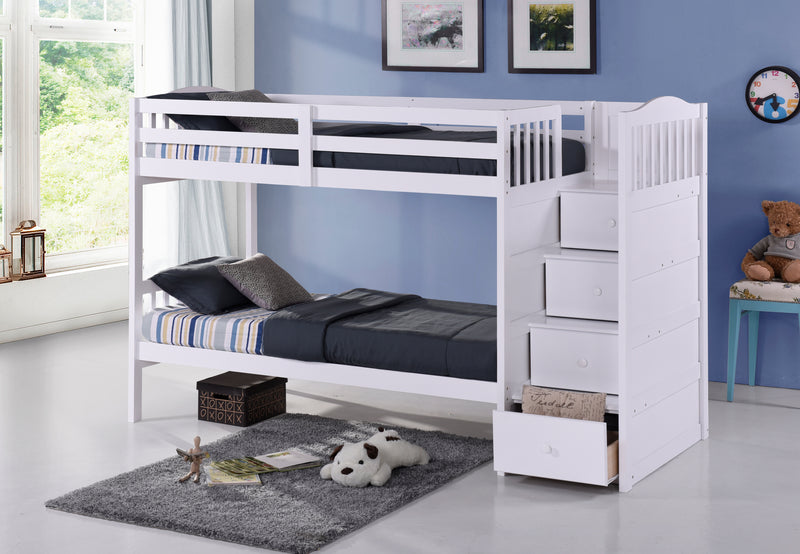 Vada Bunk Bed Series - White - The Fine Furniture