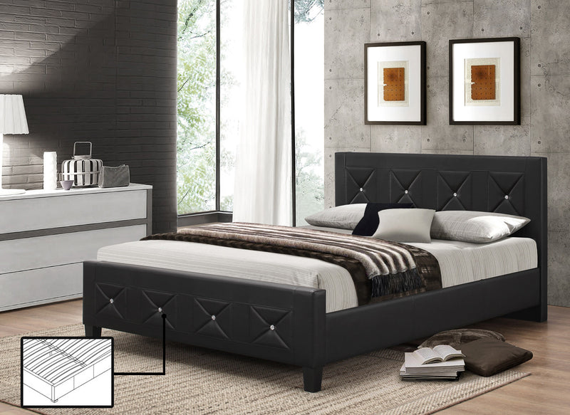 Mika Bed Frame With Rhinestones - The Fine Furniture
