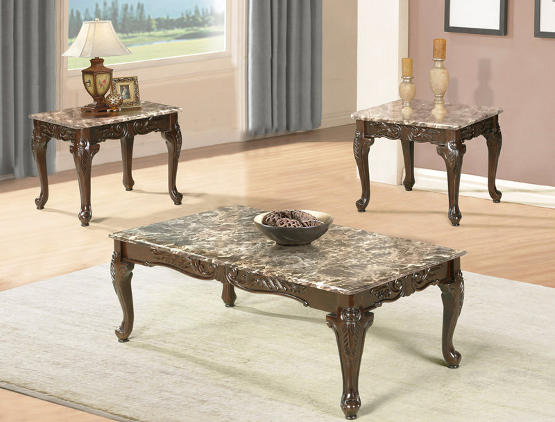 Levy 3pc Coffee Table Set - The Fine Furniture