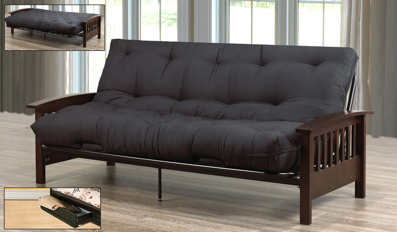 Mission Solid Wood Futon With Mattress - The Fine Furniture