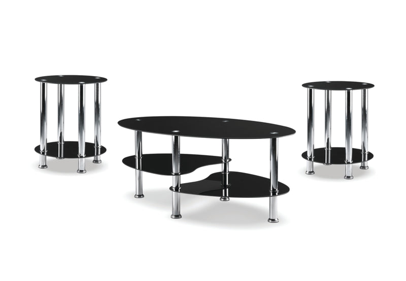Randall Coffee Table - Black - The Fine Furniture