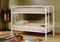 Pam Metal Bunk Bed -  Twin/Twin - White - The Fine Furniture