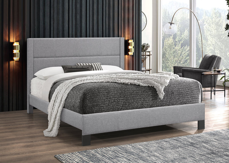 Kellan Bed Frame - Light Grey - Single/Double/Queen - The Fine Furniture