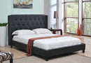 Alora Bed Frame - Charcoal - Double/Queen/King - The Fine Furniture