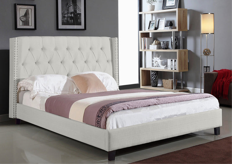 Alora Bed Frame - Ivory - Double/Queen/King - The Fine Furniture